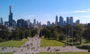 view of CBD from the Shrine of Remembrance
