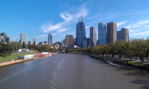 View of the CBD and the Yarra River